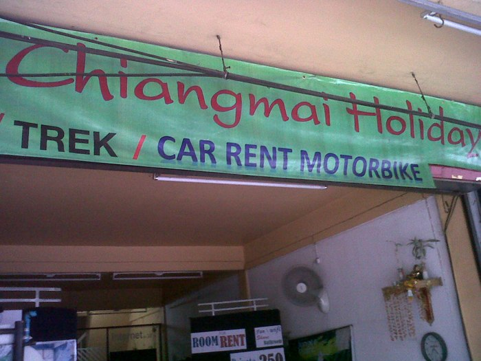 Chiangmai holiday motorbike rental