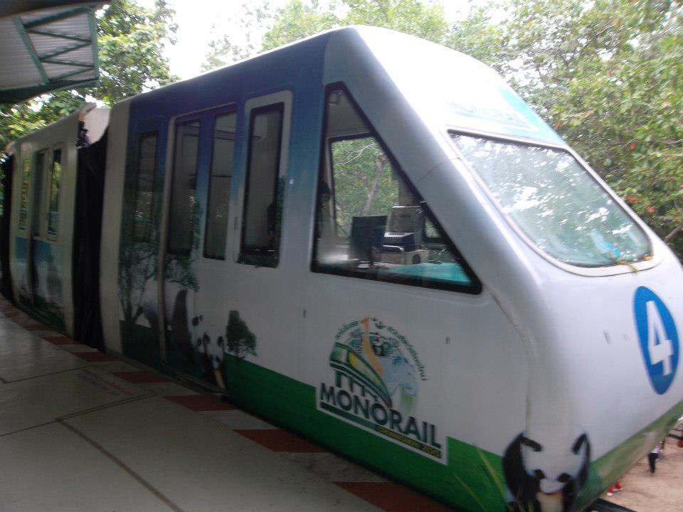 monorail in the zoo