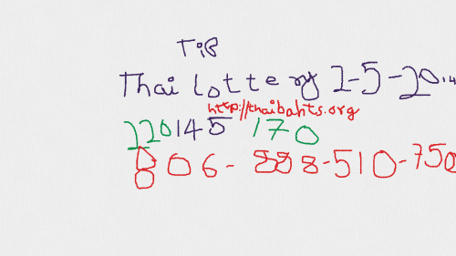 Latest Thai lotto results 2-5-2014 final tip