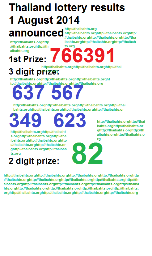Thai lottery results 1st August 2014 announced