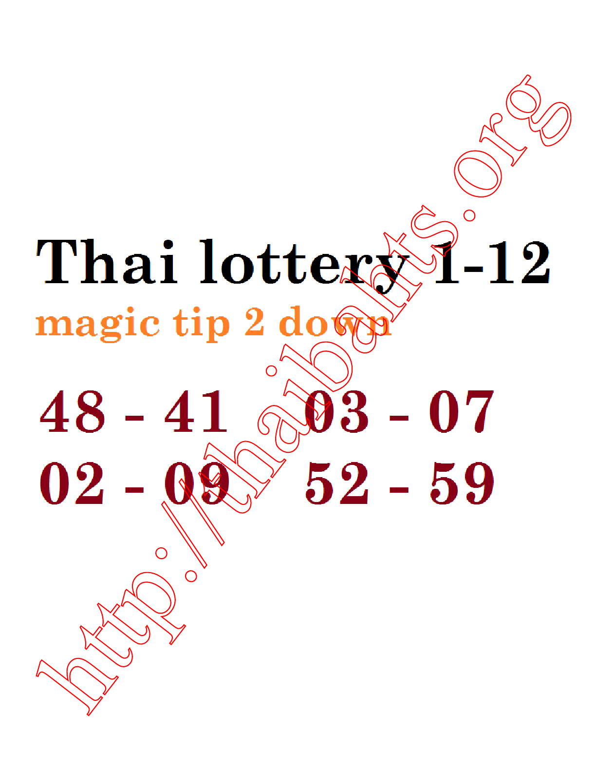 Thai lottery results 1-12-2014