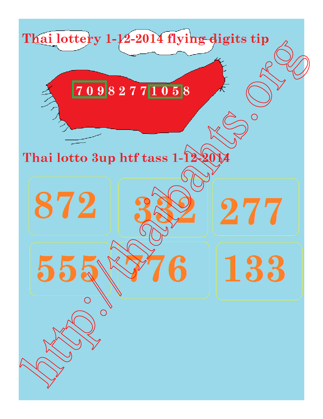 hhh21 - Thai lottery results 1-12-2014 necessary tip