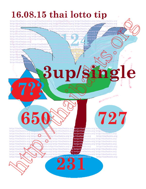 16.08.15 Thai lottery flower with unique digits