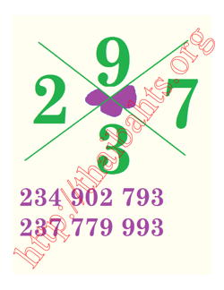 Thai lottery 16 08 2015  number in a cross