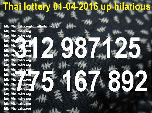 Thai lottery 01-04-2016 up hilarious