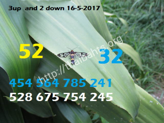 Thai lottery 16 May 2017 up and down
