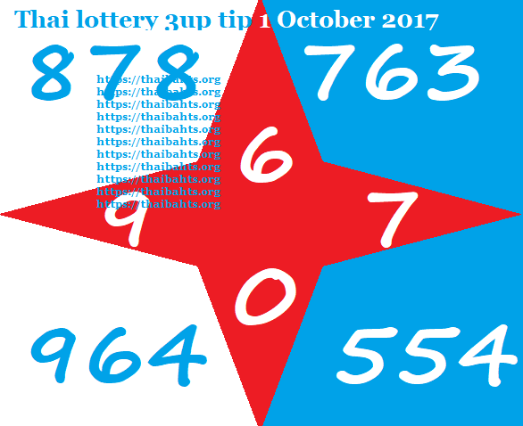 Thai lottery 3up tip 1 October 2017