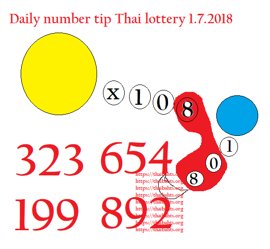 Daily number tip Thai lottery 1.7.2018