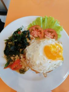 Most popular thai dish - Krapao moo sap